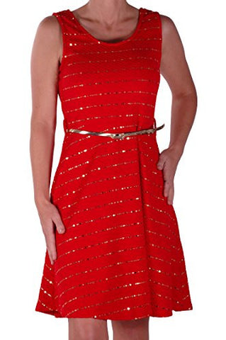 Sleeveless Glitter Embedded Dress
