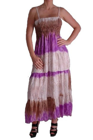 Multicoloured Chiffon Maxi Dress