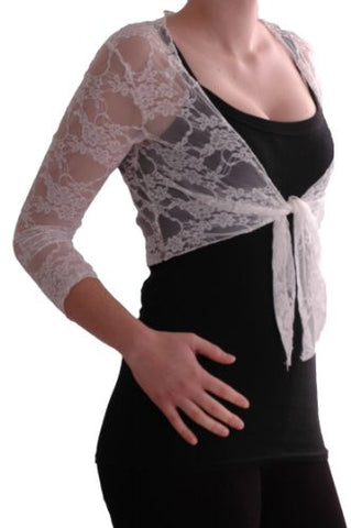 Karina Lace Tie Front Shrugs