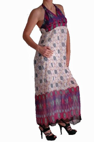 Penelope Multicoloured Halter Neck Maxi Dress