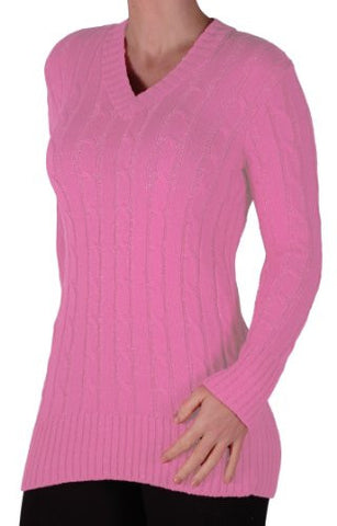 Devon Cable Knit V Neck Jumper