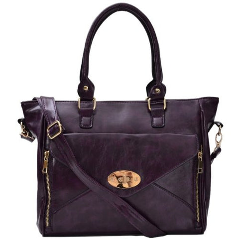 Mallory Faux Leather Satchel Bag