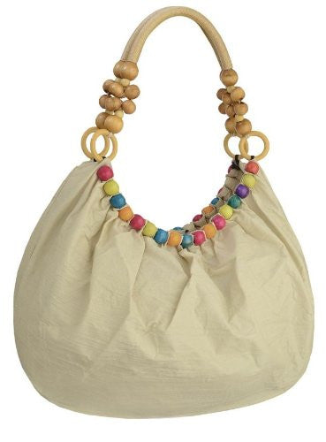 1Isla Beads Ruched Shoulder Bag