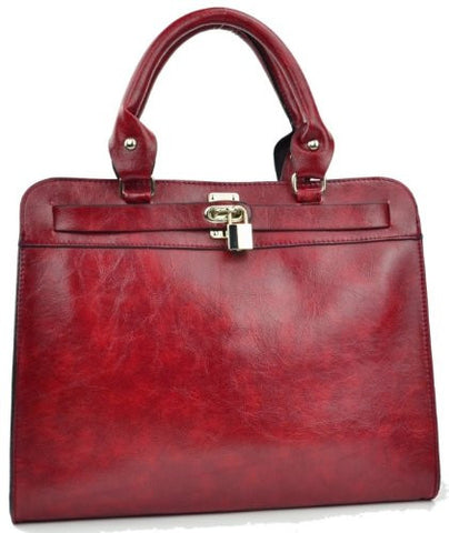 Polaris Faux Leather Satchel Bag