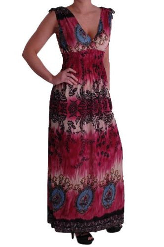 1JoJo Grecian V Neck Printed Maxi Dress