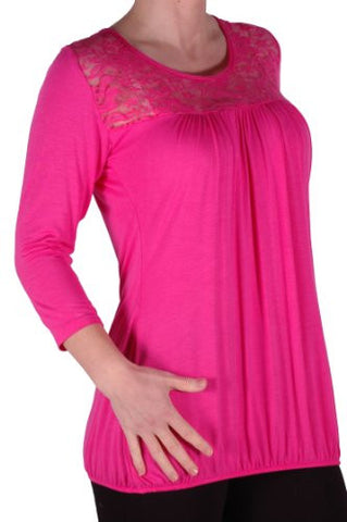 Abby Lace 3/4 Sleeve Plus Size Blouse