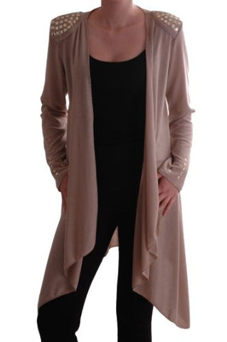 Florentine Studded Draped Cardigan