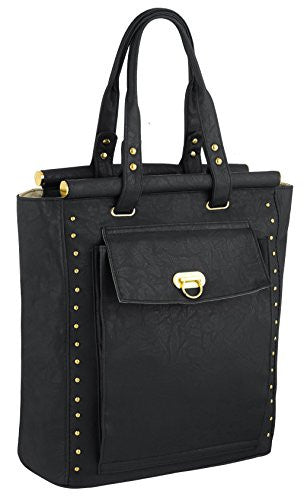 1Flo Studded Faux Leather Tote Bag