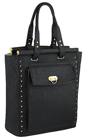 Flo Studded Faux Leather Tote Bag