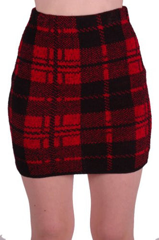 Caledonia Cozy Sweater Knit Skirt
