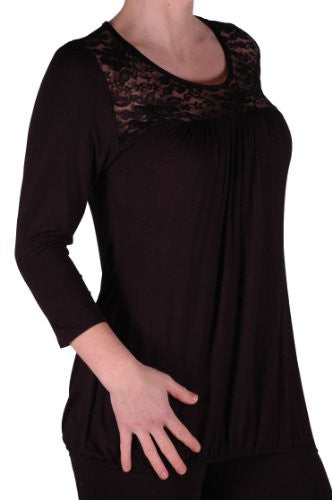1Abby Lace 3/4 Sleeve Plus Size Blouse