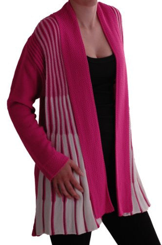 1Gaby Draped Waterfall Knitted Cardigan