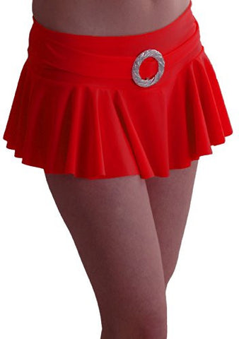 Cynthia Buckled Ruffled Mini Skirt