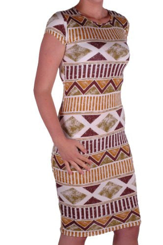 1Short Sleeve Tribal Print Dress