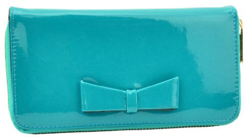 Sabine Zip Faux Leather Bow Purse
