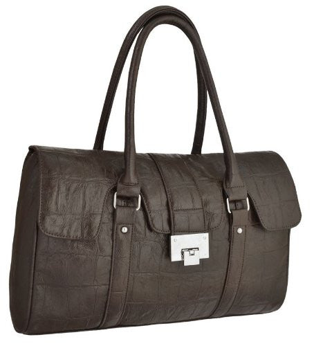 1Faux Leather Satchel Bag