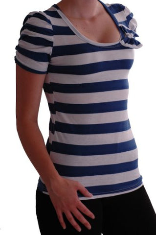 Roxanne Lace Back Striped Bow Tops