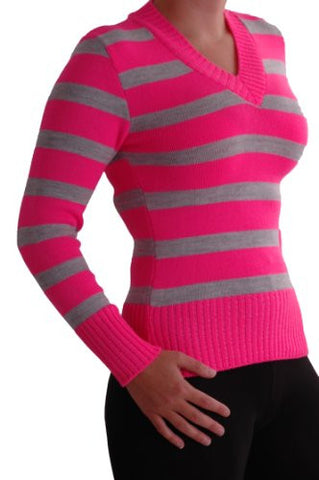 Alicia Multi Stripe V Neck Jumper