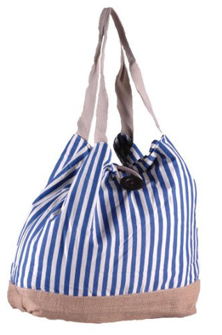 Becky Stripe Canvas Tote Bag