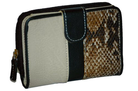 Lilly Tonal Animal Print Faux Leather Wallet