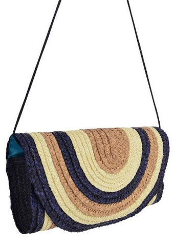 Whitney Straw Clutch Bag