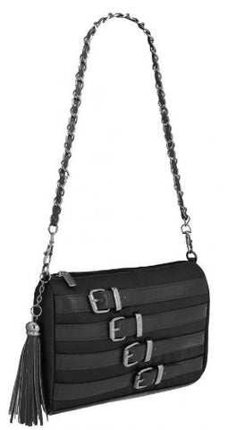 Avalon Satin Buckle Shoulder Bag