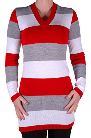Greta Stripe Knit V Neck Jumper