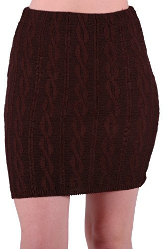 1Ren Cozy Sweater Braid Knit Skirt