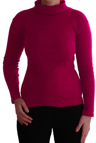 Gail Ribbed Polo Neck Tops