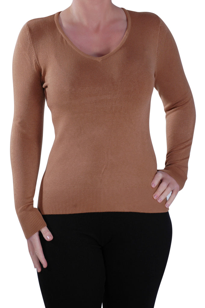 1Classic V Neck Fitted Jumper