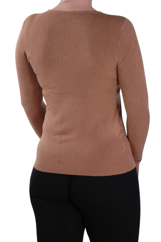 Classic V Neck Fitted Jumper