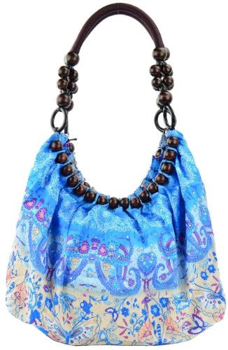 1Belladonna Beads Ruched Shoulder Bag