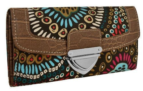 Aztec Print Canvas Purse