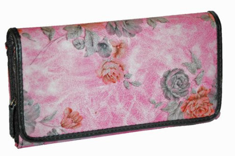 Eve Floral Print Faux Leather Wallet