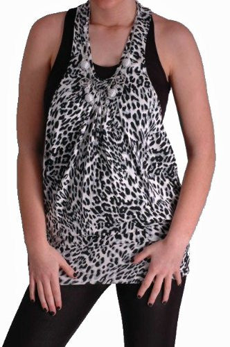 1Cindy Leopard Print Twin Tops