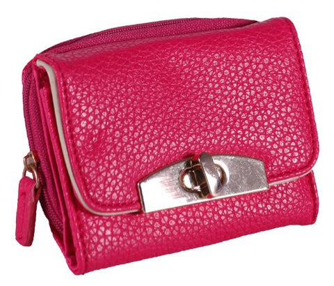 Twist Lock Faux Leather Purse
