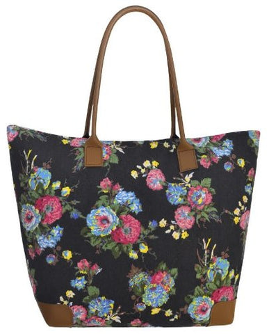 Beatrice Canvas Floral Print Shoulder Bag