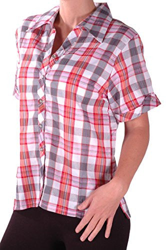 1Checkered Check Blouse Shirt