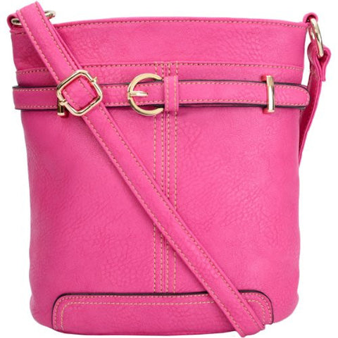 Fran Faux Leather Buckle Cross Body Bag