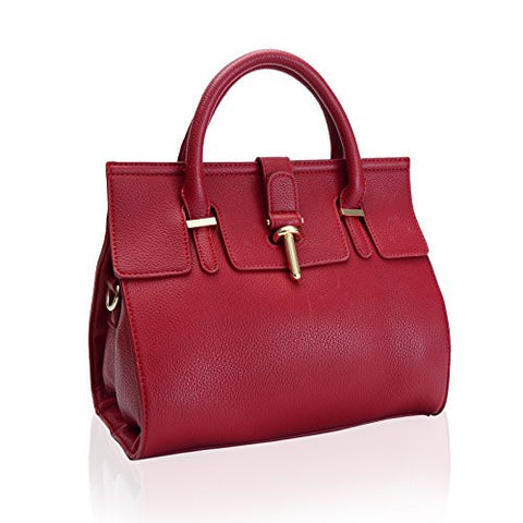 Doctor Style Faux Leather Satchel Bag