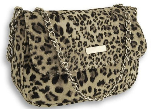 1Savannah Leopard Print Suedette Shoulder Bag