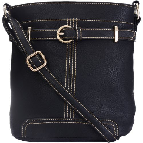 1Fran Faux Leather Buckle Cross Body Bag