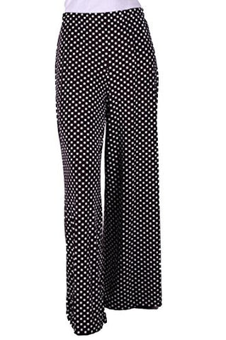 Eliza Polka Dot High Waisted Palazzo Plus Size Trousers