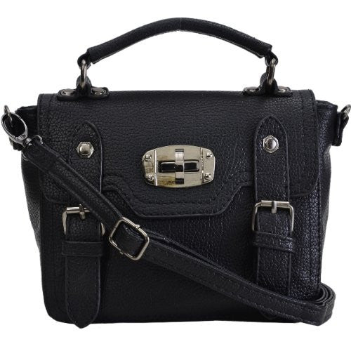 Faux Leather Satchel Bag