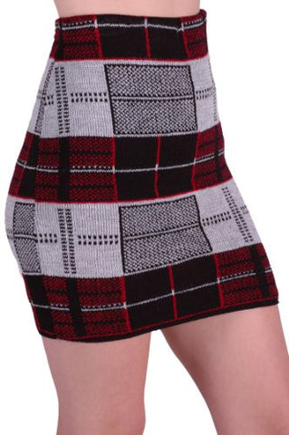Avril Cozy Sweater Knit Skirt