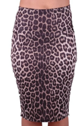 Leopard Midi Pencil Skirt