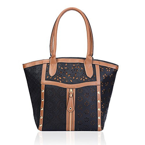Metallic Laser Cut Tote Bag