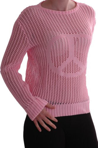 Cerian Long Sleeve Crochet Knitted Mesh Tops