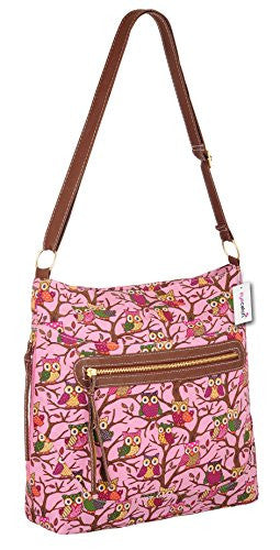 1Cross Body Owl Print Shoulder Bag