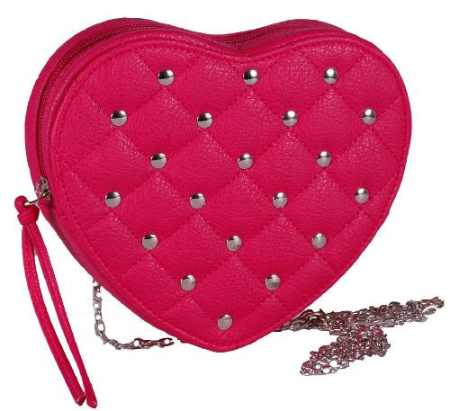 1Heart Chain Faux Leather Clutch Bag